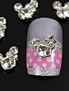 10st strass micky mus 3d diy legering tillbehör nail art dekoration