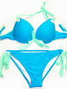 Colorful bowknot Sexy Beach Wear Push Up Swimwear Bikini Set