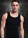 män bantning underkläder t-shirt fast magen mage byst kropp shaper vest väst spandex svarta ny075