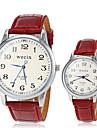 Bărbați Pentru femei Pentru cupluri Ceas La Modă Ceas de Mână Ceas Casual Quartz PU Bandă Vintage Negru Alb Roșu Maro