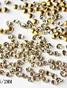 1440pcs 2mm glitter rhinestone nail art dekorationer