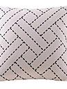 beige korg mönster bomull / linne dekorativa örngott
