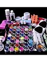 88PCS Glitter UV Gel Cleanser Primer Nail Art Kit Set