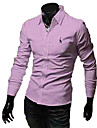 Broderie couleur solide a long Sieeve shirts REVERIE UOMO homme