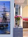Stretched Canvas Art Landscape De fartyg till havs Set om 3