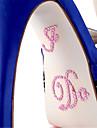 """""""Jag gör"""" kristall akryl sko sticker (fler färger)"""