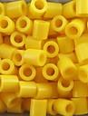 environ 500 pieces / sac 5mm perles Perler jaunes fusibles perles perles hama bricolage puzzle eva materiel safty pour les enfants