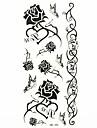 noir impermeable rose temporaire autocollant de tatouage echantillon de tatouages moule pour l\'art corporel (18.5cm * 8.5cm)