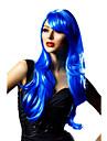 Cosplay Peruker / Maskerad Cosplay Festival/Högtid Halloween Kostymer Blå Enfärgat Peruk Halloween / Karnival Kvinna