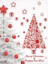 zooyoo® colore joli pvc rouge amovible image d\'arbre de Noel de stickers muraux chaudes stickers muraux de vente pour la decoration