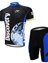 XAOYO® Cykeltröja med shorts Herr Kort ärm Cykel Snabb tork / Back Pocket Klädesset/Kostymer Polyester / 100% PolyesterDjurmönstrad /