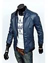 moto courte en cuir de brochet hommes