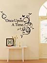 jiubai ™ en gång i tiden citat vägg klistermärke väggdekal