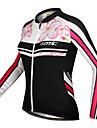 Maillot Cyclisme Velo / veste a manches longues  pour Femme 100% polyester motif floral de Santic-femmes