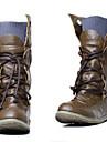 Pantofi pentru femei - Imitație de Piele - Toc Plat - Pantofi la Modă - Cizme - Rochie - Negru / Verde / Galbem