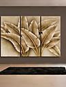 Abstrakt / fantasi / Botanisk Canvastryck Tre paneler Redo att hänga , Vertikal