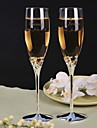 Personalized Toasting Flutes Love  design Heart Base- Set of 2