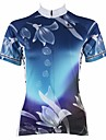 PALADIN® Maillot de Cyclisme Femme Manches courtes Velo Respirable / Sechage rapide / Resistant aux ultraviolets Maillot / Hauts/Tops100