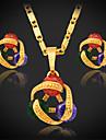 multi couleur collier pendentif boucles d\'oreilles U7 eleves de qualite