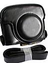 dengpin® läder avtagbar skyddande kameraväska väska lock laddning stil med axelrem för Canon Powershot G16