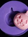 Halloween pumpa fondant tårta choklad bakning silikonform, l2.8cm * w2.8cm * h0.8cm