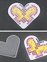 1pcs modele panneau perfore clair coeur aimant pour perles hama 5mm Perler perles perles fusibles
