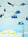 väggdekorationer Väggdekaler, barn airplane auto barnrum pvc heminredning väggdekorationer