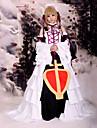 Inspirerad av Tsubasa Sakura anime Cosplay dräkter cosplay Suits / Klänningar Lappverk Vit Ärmlös Klänning / Huvudbonad / Krage / Ärmar