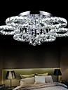 UMEI 50  Watt Modern/Contemporary Crystal / LED Chrome Metal Flush Mount