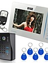"SYSD 7"" Video Door Phone Doorbell Intercom System Compatible RFID Keyfobs CCTV cameras"