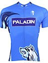 ILPALADINO Maillot de Cyclisme Homme Manches courtes Velo Hauts/Tops Sechage rapide Resistant aux ultraviolets Respirable 100 % Polyester