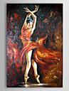 oljemålning folk lady dancer 1212-pe0181 handmålade duk