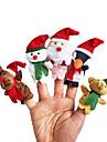 5pcs noel marionnettes peluche de doigt enfants parlent prop
