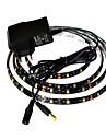 jiawen® etanche 1m 4w 60x3528smd 6000-6500K led blanche bande de puissance de 1a lumiere souple + (ca 110-240)