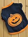 Chat / Chien T-shirt Noir Vetements pour Chien Hiver / Printemps/Automne Dessin-Anime Garder au chaud / Halloween