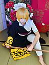 Inspire par Gintama Gintoki Sakata Anime Costumes de cosplay Costumes Cosplay Noir / Dore Cape / Top / Pantalons / Accessoires de taille