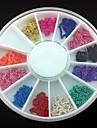 12 färger pläterad metall line kedja 3d legering nail art dekoration