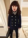 Fata lui Albastru Solid Amestec Bumbac Iarnă / Primăvară / Toamnă Albastru