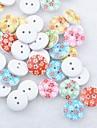 floral album scraft coudre des boutons en bois de bricolage (10 pieces couleur aleatoire)