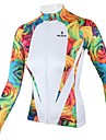 PALADIN® Maillot de Cyclisme Femme Manches longues Velo Respirable / Sechage rapide Maillot / Hauts/Tops 100 % PolyesterFloral /
