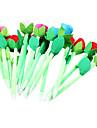 6pcs ny skönhets plysch ros blomma pennor