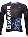 PALADIN® Maillot de Cyclisme Homme Manches longues Velo Respirable / Garder au chaud / Sechage rapide / Resistant aux ultravioletsMaillot