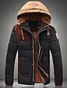 la correspondance des couleurs a capuchon en coton rembourre vetements manteau hommes
