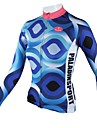 PALADIN® Maillot de Cyclisme Femme Manches longues Velo Respirable / Sechage rapide Maillot / Hauts/Tops 100 % Polyester Tartan