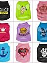 Alla årstider - Slumpmässig färg Terylene - T-shirt - till Hundar / Katter - XS / S / M / L
