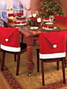1pcs de Noel Decorations de noel chapeau rouge chaise couvertures