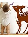 jiubai® tecknad hjort och fjäril vägg klistermärke väggdekal