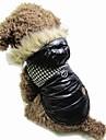 Katter / Hundar Kappor / Bandana & Hattar Svart / Brun Hundkläder Vinter Hundtandsmönster