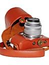 dengpin® PU läder Litchi mönster kameraväska för Olympus PEN E-PL7 med 17mm / 14-42mm objektiv