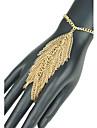Forma frunze European lanț manual ciucure brățară inel femei